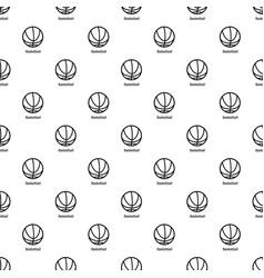 basketball pattern seamless vector image