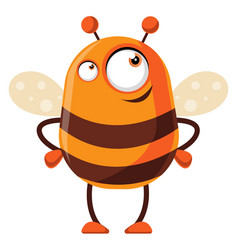 bee is thinking on white background vector image