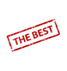 best sign sticker stamp texture vector image