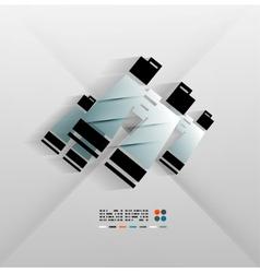 Binoculars icon paper 3d design vector image