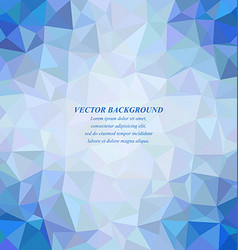 Blue tiled triangle mosaic background design vector