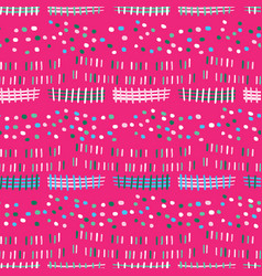 Bright fun doodle shapes seamless pattern striped vector
