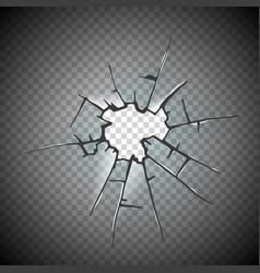 broken glass window frame window glass vector image