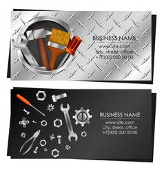 business card with tool for repair and service vector image