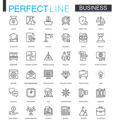 Business thin line web icons set outline stroke vector