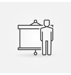 Businessman and presentation icon vector