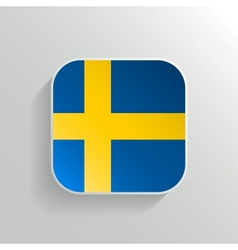 Button - Sweden Flag Icon vector image