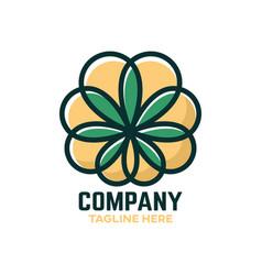 Cbd cannabis logo vector