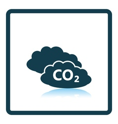 CO 2 cloud icon vector