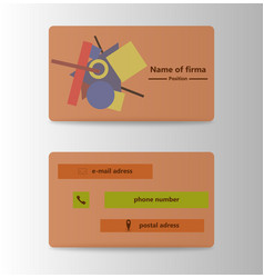 Colorful visit card for business in individual vector