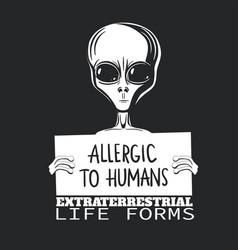 Comic t-shirt with alien vector