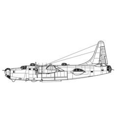 consolidated pb4y-2 privateer vector image