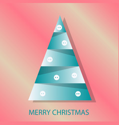 decorated christmas tree with decoration balls vector image