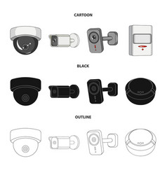 design of cctv and camera sign collection vector image