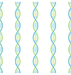 DNA seamless background vector image