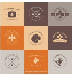 dog and cats clinic logos vector image