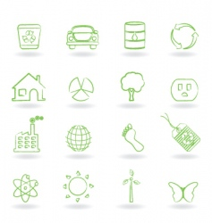 eco friendly icon vector image vector image