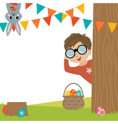 Egg Hunt vector image
