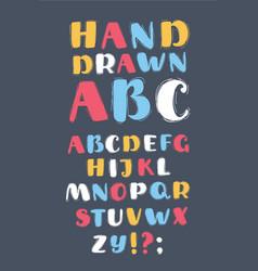 english alphabet handwritten letters vector image