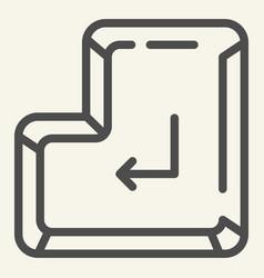 enter button line icon enter key vector image
