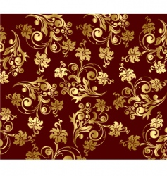 Floral gold wallpapers vector