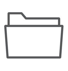 Folder line icon office and work file sign vector