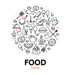 food and cooking round concept vector image