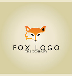 fox logo on background vector image