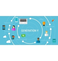 Generation Y or smartphone generation millennials vector