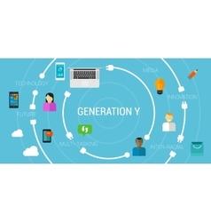 Generation y or smartphone millennials vector