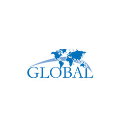 global logo design vector image