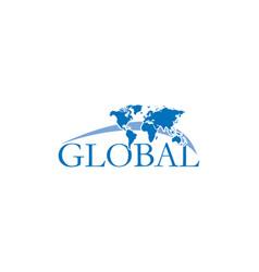 global logo design vector image