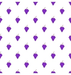 Grapes pattern cartoon style vector