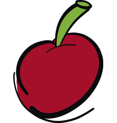 Hand drawn red cherry fruit vector