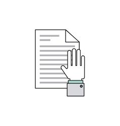 Hand social media icon vector