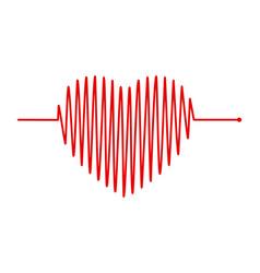 Heart and ecg - ekg signal heart beat pulse line vector