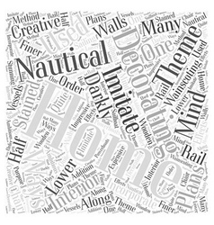 Home decorating with a nautical theme word cloud vector