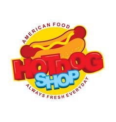 Hot dog sticker design vector
