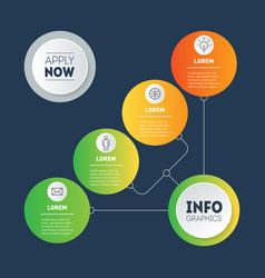 Info chart diagram infographic technology vector