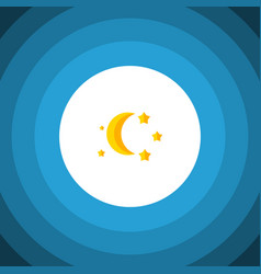 Isolated twilight flat icon bedtime vector