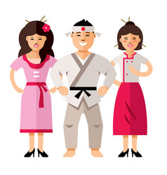 Japan people flat style colorful cartoon vector