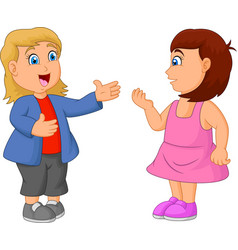 kids cartoon talking to each other vector image