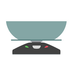 kitchen scale icon symbol balance vector image
