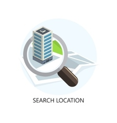 Location Icon Search Concept Flat Design vector