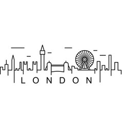 london outline icon can be used for web logo vector image