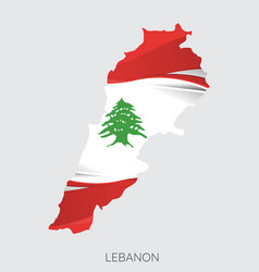map lebanon vector image