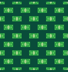 money pattern on green background seamless vector image