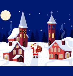 new year christmas an image of santa claus vector image