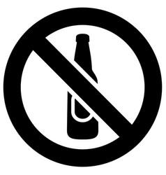 No alcohol forbidden sign modern round sticker vector