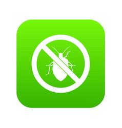 no bug sign icon digital green vector image